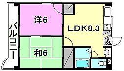 YTM中村[202号室]の間取り