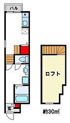 リックメゾン武蔵[1階]の間取り
