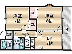 サングレートESAKA2[4階]の間取り