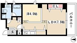 hinata higasiyama 4階1LDKの間取り
