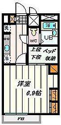 埼玉県さいたま市中央区新中里5丁目の賃貸アパートの間取り