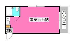東京都清瀬市野塩4丁目の賃貸マンションの間取り