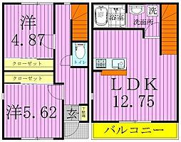 オーナーズガーデン青井 D棟[2階]の間取り