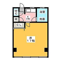 西春オカマンション[4階]の間取り