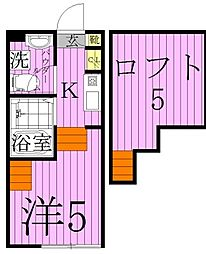 ハーモニーテラス梅田[2階]の間取り