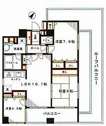 東京メトロ丸ノ内線 新中野駅 徒歩5分の賃貸マンション 6階3LDKの間取り