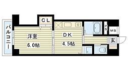 ノルデンハイム今福[405号室]の間取り
