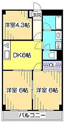 ローヤル国立マンション[1階]の間取り