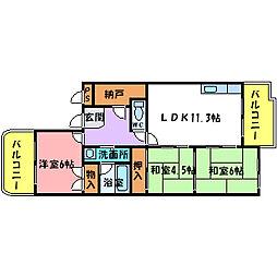 グリーンライフサトウ[2階]の間取り