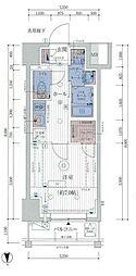 ESTEM COURT KAMEIDO TOKYO EAST 13階1Kの間取り