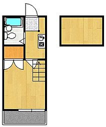 山科第14マンション[1階]の間取り