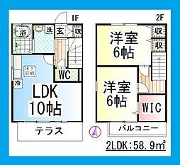 [テラスハウス] 神奈川県大和市上草柳5丁目 の賃貸【神奈川県 / 大和市】の間取り