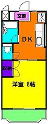 静岡県磐田市富丘の賃貸マンションの間取り