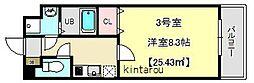 ラルーナ新松戸[3階]の間取り