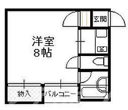 大阪府大阪市阿倍野区阿倍野元町の賃貸マンションの間取り