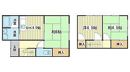 [一戸建] 兵庫県姫路市田寺東2丁目 の賃貸【/】の間取り