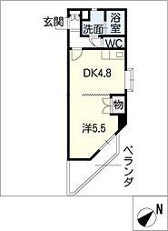 カサソラール本山[2階]の間取り