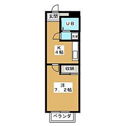 サンワ06[1階]の間取り