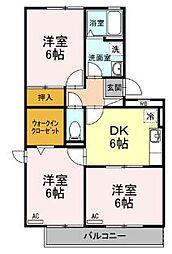 レジデンスKISE[3階]の間取り