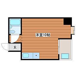 サンハイツ東梅田[3階]の間取り