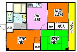 モデラート永和 505号室[5階]の間取り