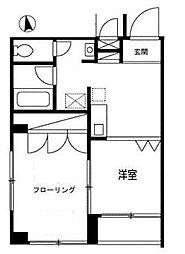 東京都板橋区舟渡3丁目の賃貸マンションの間取り