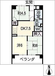 サンマンション[10階]の間取り