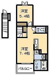 ラ・カーサ・フェリーチェ II[2階]の間取り