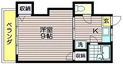 東京都三鷹市中原1の賃貸アパートの間取り