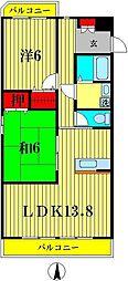 ケイハイツIII[2階]の間取り