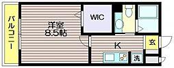 東京都世田谷区北烏山9の賃貸アパートの間取り