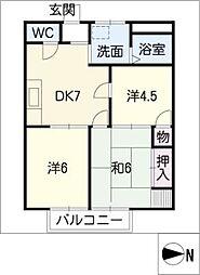 サンハイツ稲垣 B棟[2階]の間取り