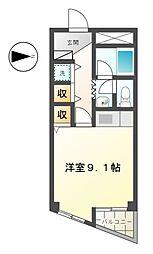 愛知県あま市新居屋鶴田の賃貸マンションの間取り