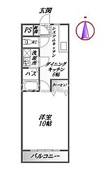 徳島県徳島市富田橋2丁目の賃貸マンションの間取り