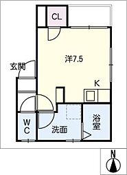 MELDIA大須[1階]の間取り
