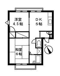 コンフォートマンション[1階]の間取り