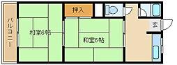 兵庫県尼崎市武庫之荘4の賃貸マンションの間取り