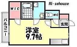 大阪府和泉市池上町2丁目の賃貸アパートの間取り