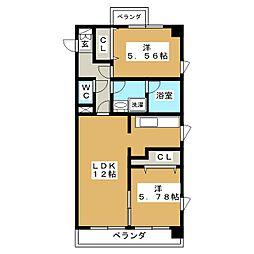 La FELMO菊坂(ラ フェルモ)[10階]の間取り