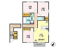 仮)D−room五智[2階]の間取り