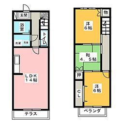 [テラスハウス] 愛知県稲沢市平和町下起北 の賃貸【/】の間取り