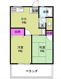 ハイムKOSHA[2階]の間取り