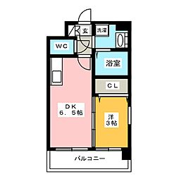 ディモーラ博多[5階]の間取り