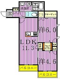 グランツ鎌ヶ谷EAST[3階]の間取り