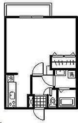 コーポアプロードII[202号室]の間取り