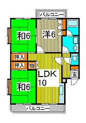 第一富田マンション[3階]の間取り