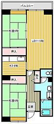 アーベイン堺市駅前[408号室]の間取り