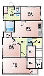 湯村住宅[3F号室]の間取り