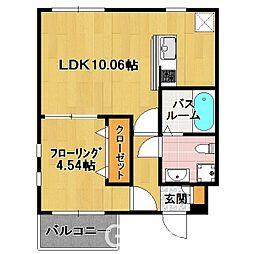 福岡県福岡市中央区西公園丁目なしの賃貸アパートの間取り