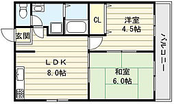 佐伯マンションパート1[2階]の間取り